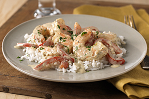 Creamy Pesto-Shrimp & Rice Image 1