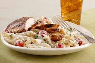 Creamy Tomato-Basil Pasta with Chicken Image 1