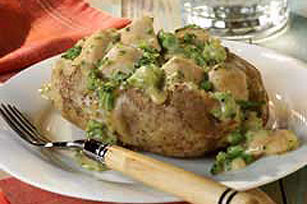 Creamy Chicken Broccoli Stuffed Potato