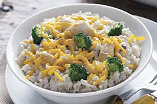 Creamy Chicken and Cheddar Rice