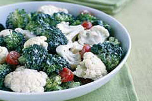 Creamy Garden Vegetable Salad