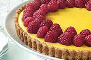 Creamy Lemon Tart with Nut Crust Image 1