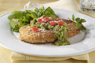 Crispy Chicken Parmesan with Avocado Salsa