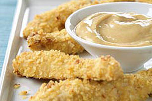 Crispy Chicken with Honey Dipping Sauce
