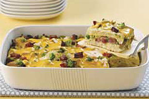 Crowd-Servin' Cheesy Omelet Bake Image 1