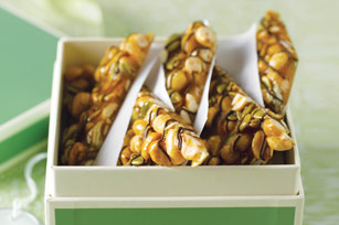 Crunchy Peanut and Pumpkin Seed Brittle