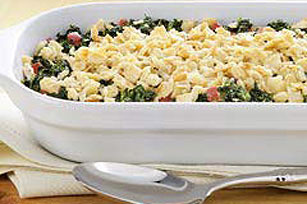 Crunchy Cracker-Topped Creamed Spinach Image 1