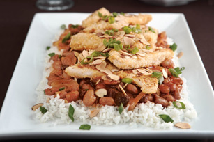 Crusted Fish with Tomato-Bean Stew Image 1