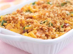 Crusted Ham and Cheese Macaroni Bake Image 1