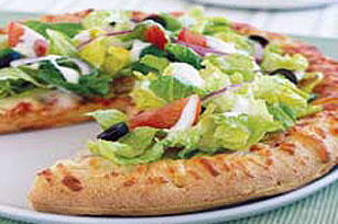 garden salad topped pizza - Garden Salad Recipe