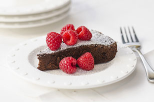 Dark Chocolate Mocha Cake with Raspberries Image 1