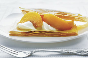 Delicate Peaches & Cream Napoleons