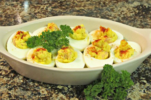 Deviled Eggs with Ham & a Kick