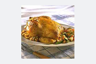Dijon-Corn Bread Stuffed Chicken