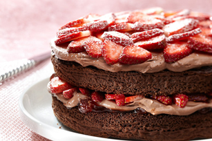 Double-Chocolate Strawberry Shortcake