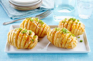 Easy Cheesy Potato Fans
