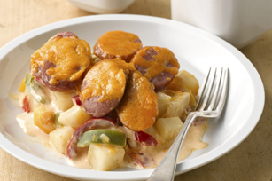 Easy Cheesy Sausage & Potato Bake Image 1