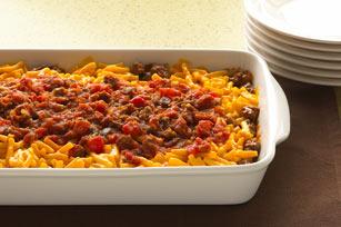 Sencillos macarrones al horno con sabor a tacos