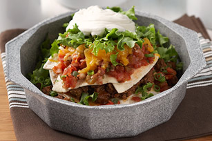 Layered Beef Taco Stack
