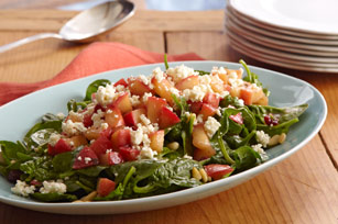 Easy Warm Spinach & Apple Salad