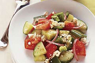 Quick Greek Salad for Two