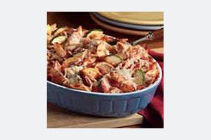 Horneado fácil de pasta con vegetales a la italiana Image 1