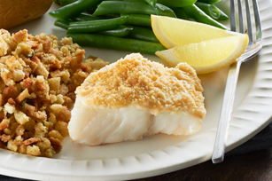 Easy Parmesan Crusted Fish Dinner