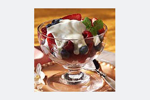 Easy Sour Cream Fruit Topping Image 1