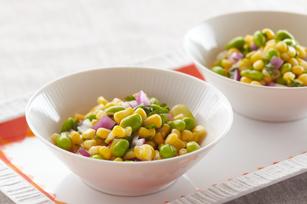 Salade de maïs et d'edamame