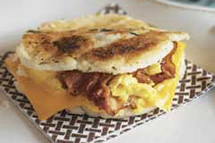 Bacon & Egg Arepas Image 1