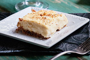 Eggnog Cheesecake Bars Image 1