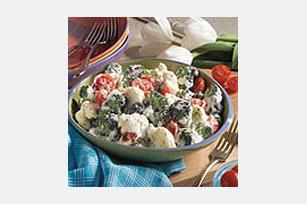 Cremosa ensalada de vegetales
