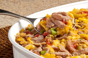 Family-Night Mac & Cheese Pork Bake Image 1