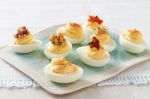 Favourite Topped Devilled Eggs