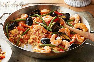 Festive Skillet Seafood Paella