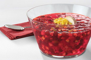 Festive JELL-O Cranberry-Pineapple Salad