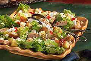 Festive Salad with Chicken and Fruit Image 1