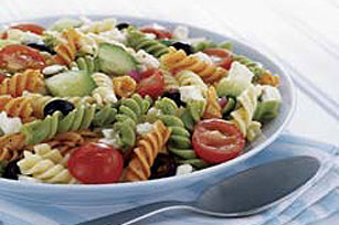 Zesty Feta and Vegetable Rotini Salad Image 1
