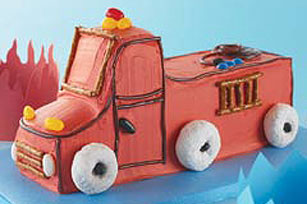 Fire Truck Birthday Cake Image 1