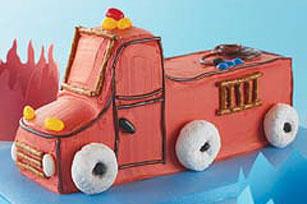 Remarkable Fire Truck Birthday Cake My Food And Family Funny Birthday Cards Online Benoljebrpdamsfinfo