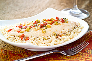 Fish Fillets with Mediterranean Salsa