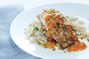 Fish in Roasted Red Pepper Sauce Image 1