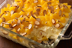 Fluffy Layered Orange Dessert Image 1