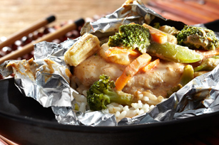 Foil-Pack Oriental Chicken Dinner