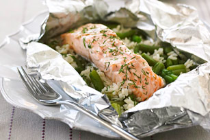 Foil-Pack Salmon Dinner Image 1