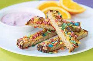 Tiras de tostadas francesas con cereal receta comida kraft for Lista de comidas francesas