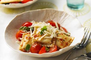 Raviolis aux tomates fraîches