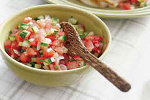 Fresh Watermelon Spring Salsa