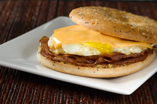 Fried Salami & Egg Sandwich