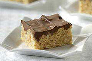 Frosted Peanut-Marshmallow Crispy Squares